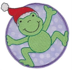 Christmas Frog embroidery design
