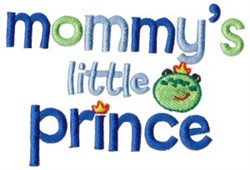 Mommys Little Prince embroidery design