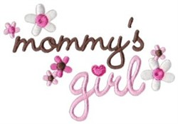 Mommys Girl embroidery design