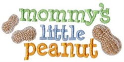 Mommys Little Peanut embroidery design