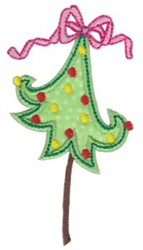 Christmas Applique Tree embroidery design