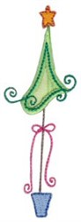 Xmas Tree Applique embroidery design