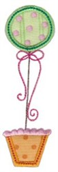 Applique Topiary embroidery design