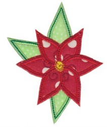 Applique Poinsettia embroidery design