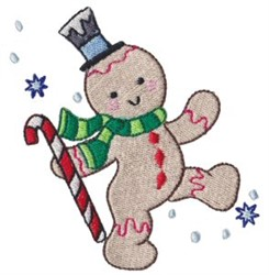 Winter Gingerbread embroidery design