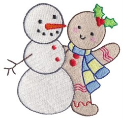 Gingerbread & Snowman embroidery design