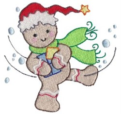 Gingerbread Man Gifts embroidery design