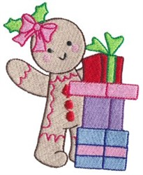 Gifts & Gingerbread embroidery design