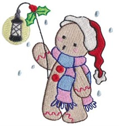 Gingerbread Christmas embroidery design