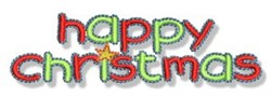 Happy Christmas embroidery design