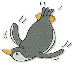 Penguin embroidery design