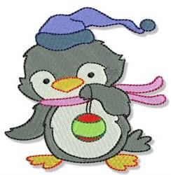 Ornament Penguin embroidery design