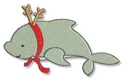 Reindeer Dolphin embroidery design