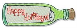 Happy Hollidays Note embroidery design