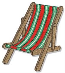 Beach Chair embroidery design