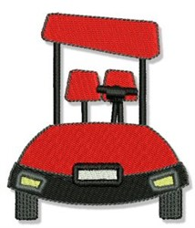 Golf Car embroidery design