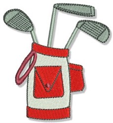 Golf Cllubs embroidery design