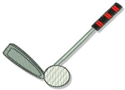 Golf Ball & Club embroidery design