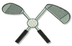 Golf Clubs & Ball embroidery design