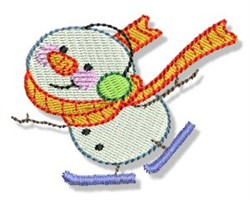 Ice Skate Snowman embroidery design