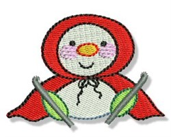 Red Hood Snowman embroidery design