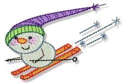Snowman Skier embroidery design