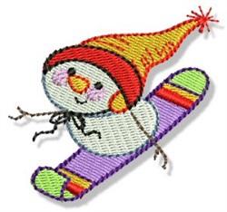 Snowboard Snowman embroidery design