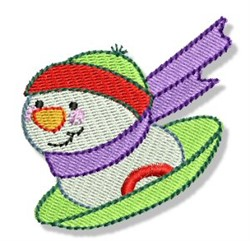 Sled Snowman embroidery design