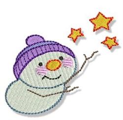 Snowman & Stars embroidery design