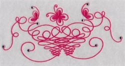 Swirled Butterflies embroidery design