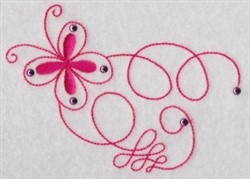 Swirled embroidery design
