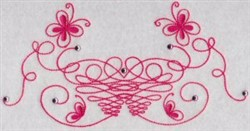 Swirly Butterflies embroidery design