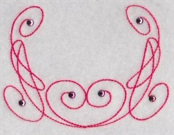 Decorative Flourish embroidery design