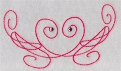 Swirled Embellishment embroidery design