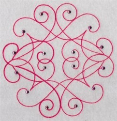 Decorative Swirl embroidery design