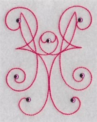 Decoration embroidery design