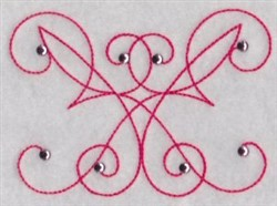 Curly Deocr embroidery design
