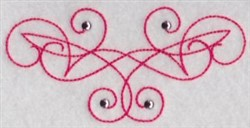 Swirl Decoration embroidery design