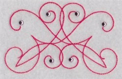 Swirly Decoration embroidery design