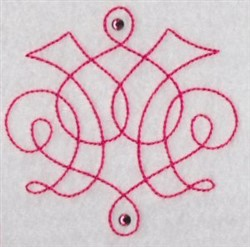 Scrolls embroidery design