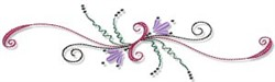 Swirly Line embroidery design