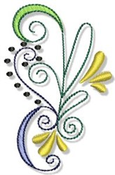 Swirly Embellishment embroidery design