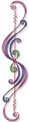 Swirly Lines embroidery design