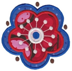 Applique Floral embroidery design