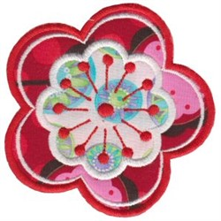 Applique Blooms embroidery design