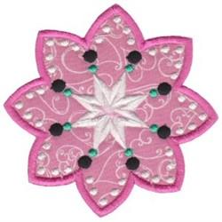 Applique Florals embroidery design