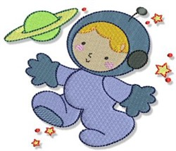 Boy Astronaut embroidery design