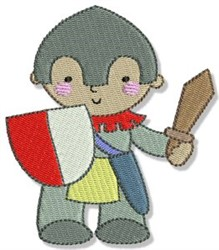 Boy Knight embroidery design