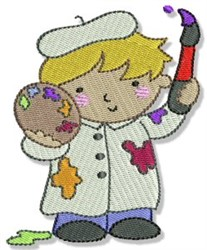 Boy Painter embroidery design