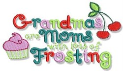 Moms With Frosting embroidery design